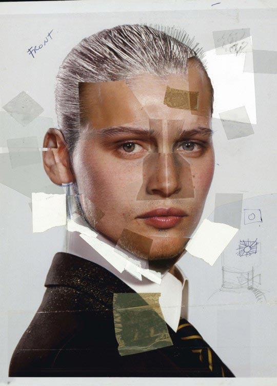 Jean-Paul Goude, Les Galeries Lafayette : L'Homme, Paris, 2004, Collage
