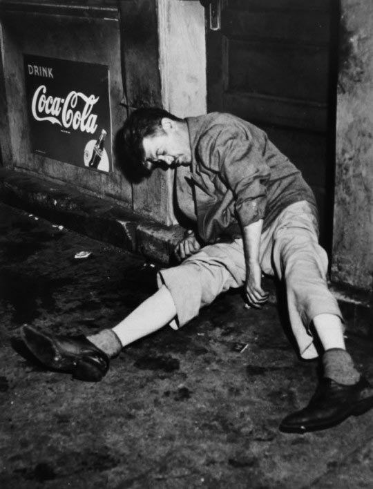 Weegee, Man drunked