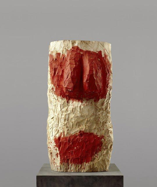Georg Baselitz Männlicher Torso / Torse masculin, 1993, Tilleul et dispersion, 155 x 77 x 79 cm, Staatliche Museen zu Berlin, Nationalgalerie,, Collection Marx, Berlin