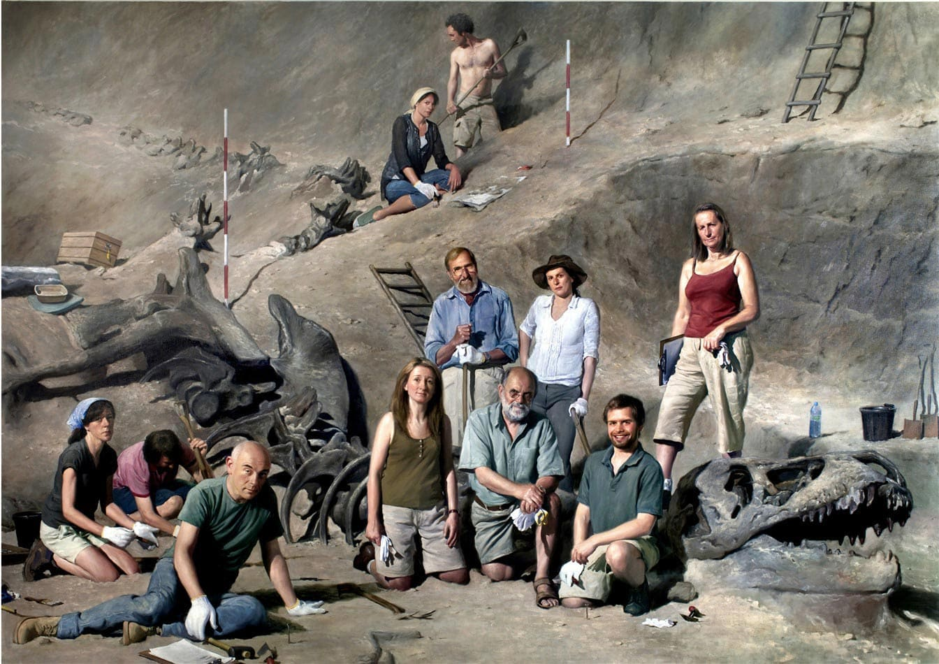 Jonathan Wateridge, Paleontologists, 2008