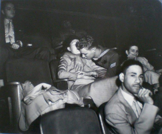 Weegee, Lovers at the movie