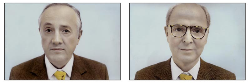 Youssef Nabil, Gilbert & George, diptyque, New York, 2007, Hand-Colored Gelatin Silver Print, 27 x 40 cm