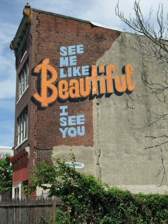 Stephen Powers, Beautiful, A Love Letter For You, City of Philadelphia Mural Arts Program