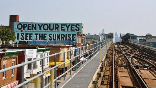 Stephen Powers, Open your eyes, A Love Letter For You, City of Philadelphia Mural Arts Program