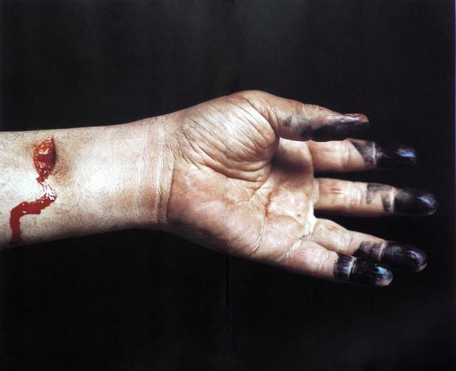 Andres Serrano, Knifed to death